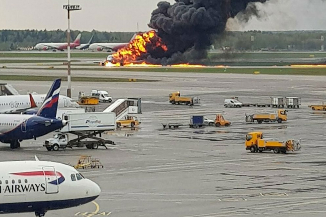 Moscow airport plane fire: At least 41 people killed in Aeroflot crash landing